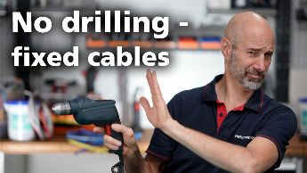 How do you affix cable tie mounts without drilling?